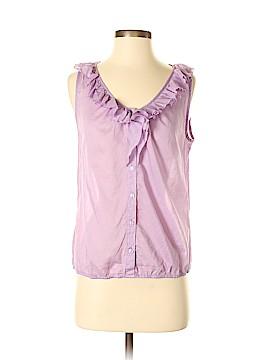 Ann Taylor LOFT Outlet Sleeveless Button-Down Shirt Size S (Petite)