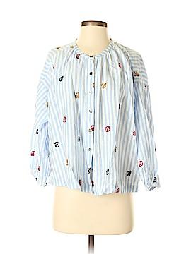 Akemi + Kin Long Sleeve Button-Down Shirt Size XS