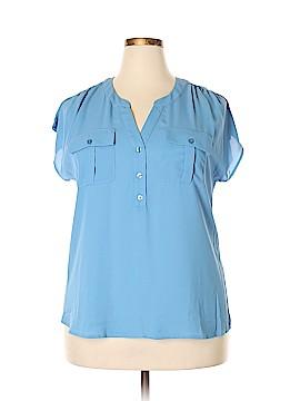Karen Scott Short Sleeve Blouse Size 0X (Plus)