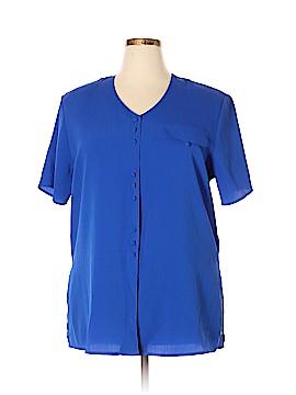 Christie & Jill Short Sleeve Blouse Size 1X (Plus)