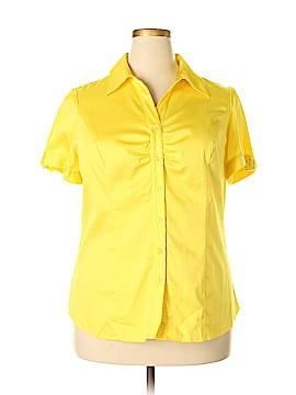 Lane Bryant Short Sleeve Button-Down Shirt Size 18 (Plus)
