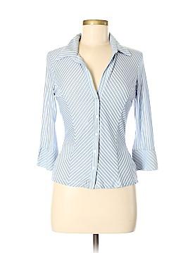 Aqua Blues Long Sleeve Blouse Size M