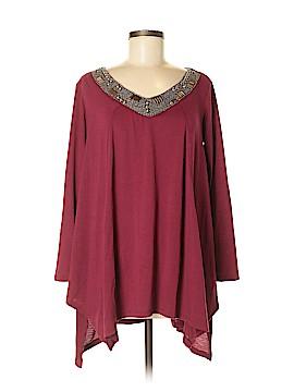 Basil heart Lola 3/4 Sleeve Top Size M