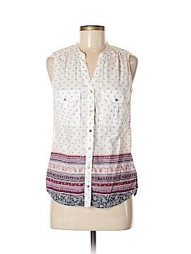 H&M L.O.G.G. Sleeveless Button-Down Shirt Size 6