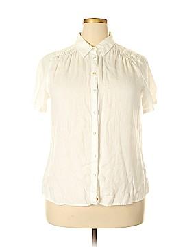 J.jill Short Sleeve Button-Down Shirt Size L