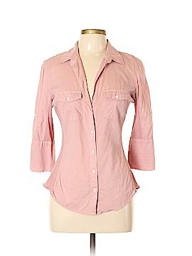 James Perse 3/4 Sleeve Button-Down Shirt Size XL (4)