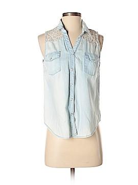 Paper Crane Sleeveless Button-Down Shirt Size S