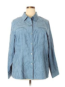 Sag Harbor Long Sleeve Button-Down Shirt Size 20W (Plus)