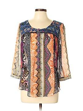Vanessa Virginia 3/4 Sleeve Blouse Size 10