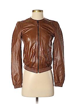 Massimo Dutti Faux Leather Jacket Size XS