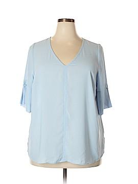 ELOQUII Short Sleeve Blouse Size 18 (Plus)