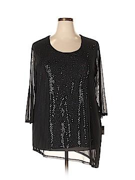 JM Collection 3/4 Sleeve Blouse Size 2X (Plus)