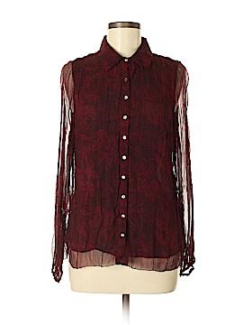 Alfani Long Sleeve Silk Top Size 6