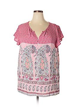 Liz Claiborne Short Sleeve Blouse Size XXL