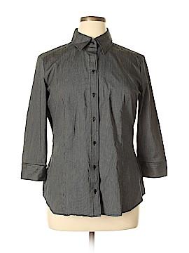 New York & Company 3/4 Sleeve Button-Down Shirt Size XL