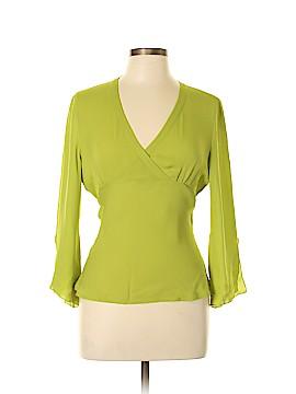 Sunny Leigh Long Sleeve Silk Top Size L