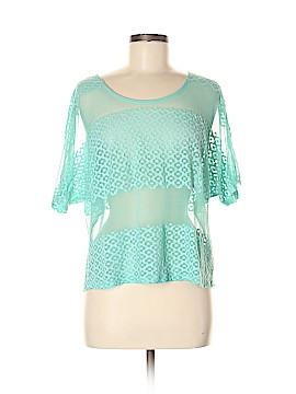 Chloe K Short Sleeve Blouse Size M