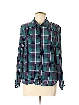 M&S Long Sleeve Button-Down Shirt Size 12 (UK)