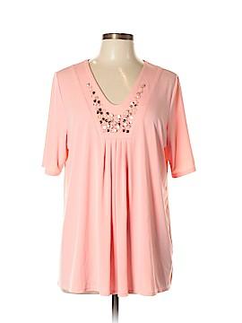 Susan Graver Short Sleeve Blouse Size L