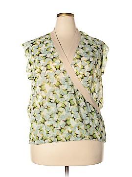 CAbi Short Sleeve Blouse Size XL