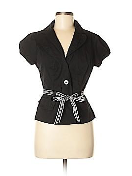 Robbie Bee Short Sleeve Button-Down Shirt Size 8