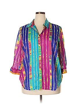 Lauren by Ralph Lauren Long Sleeve Button-Down Shirt Size 2X (Plus)