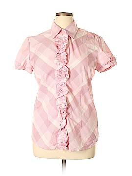 New York & Company Short Sleeve Button-Down Shirt Size XL