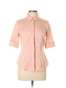 White House Black Market 3/4 Sleeve Button-Down Shirt Size 10