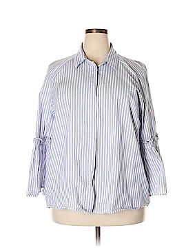Max Jeans Long Sleeve Button-Down Shirt Size 2X (Plus)