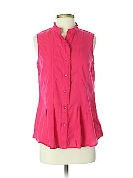 Coldwater Creek Sleeveless Button-Down Shirt Size S
