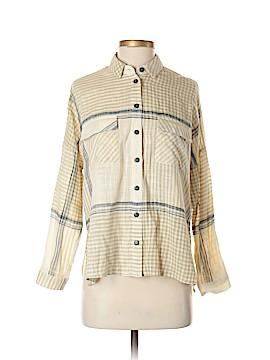 Topshop Long Sleeve Button-Down Shirt Size 0