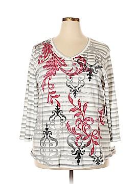 Karen Scott Sport Long Sleeve Top Size 2X (Plus)