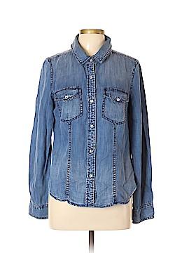 Trouve Long Sleeve Button-Down Shirt Size L