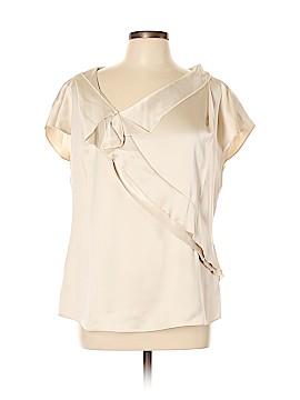 Escada Short Sleeve Silk Top Size 42 (EU)