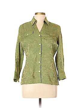 Scott Taylor 3/4 Sleeve Button-Down Shirt Size L