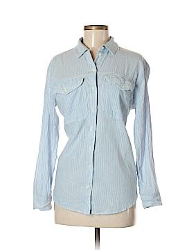 Moto Long Sleeve Button-Down Shirt Size 8