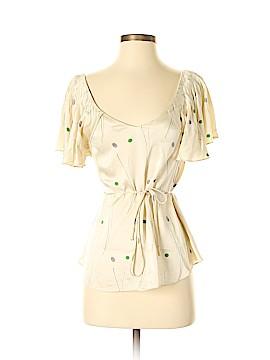 HD in Paris Short Sleeve Silk Top Size 2