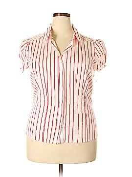 Antilia Femme Short Sleeve Button-Down Shirt Size 1X (Plus)