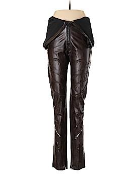 Roberto Cavalli Leather Pants Size 48 (IT)