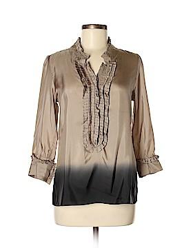 Converse John Varvatos 3/4 Sleeve Silk Top Size M