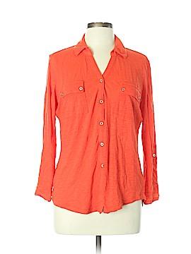 Liz Claiborne Long Sleeve Button-Down Shirt Size XL (Petite)