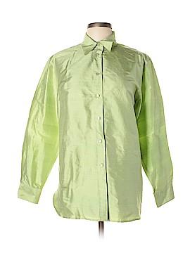 Neiman Marcus Long Sleeve Silk Top Size XL