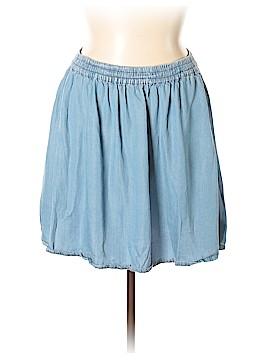Forever 21 Denim Skirt Size 2X (Plus)