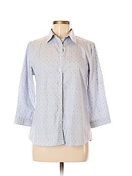 Lands' End 3/4 Sleeve Button-Down Shirt Size 8