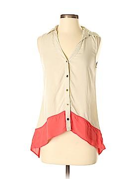 Iz Byer Sleeveless Button-Down Shirt Size XS