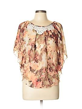 A. Byer Short Sleeve Blouse Size L