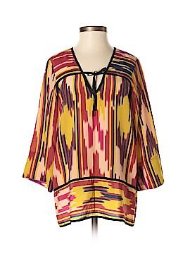 Lauren Moffatt 3/4 Sleeve Silk Top Size S