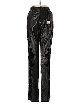 Roberto Cavalli Leather Pants Size 42 (IT)