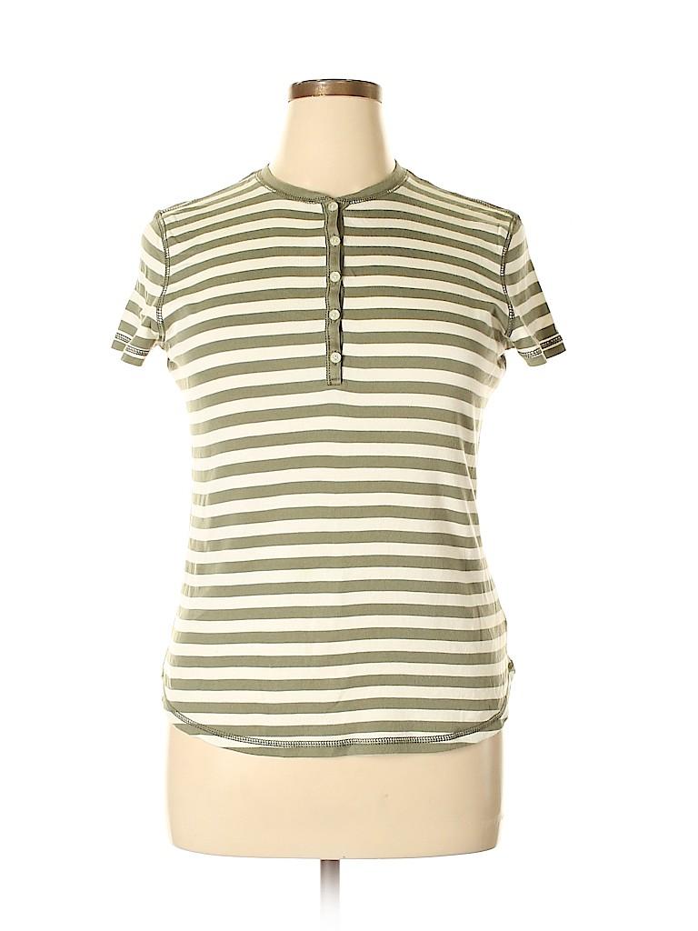 American Living Women Short Sleeve Henley Size XL