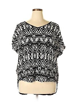 Como Vintage Short Sleeve Blouse Size 1X (Plus)